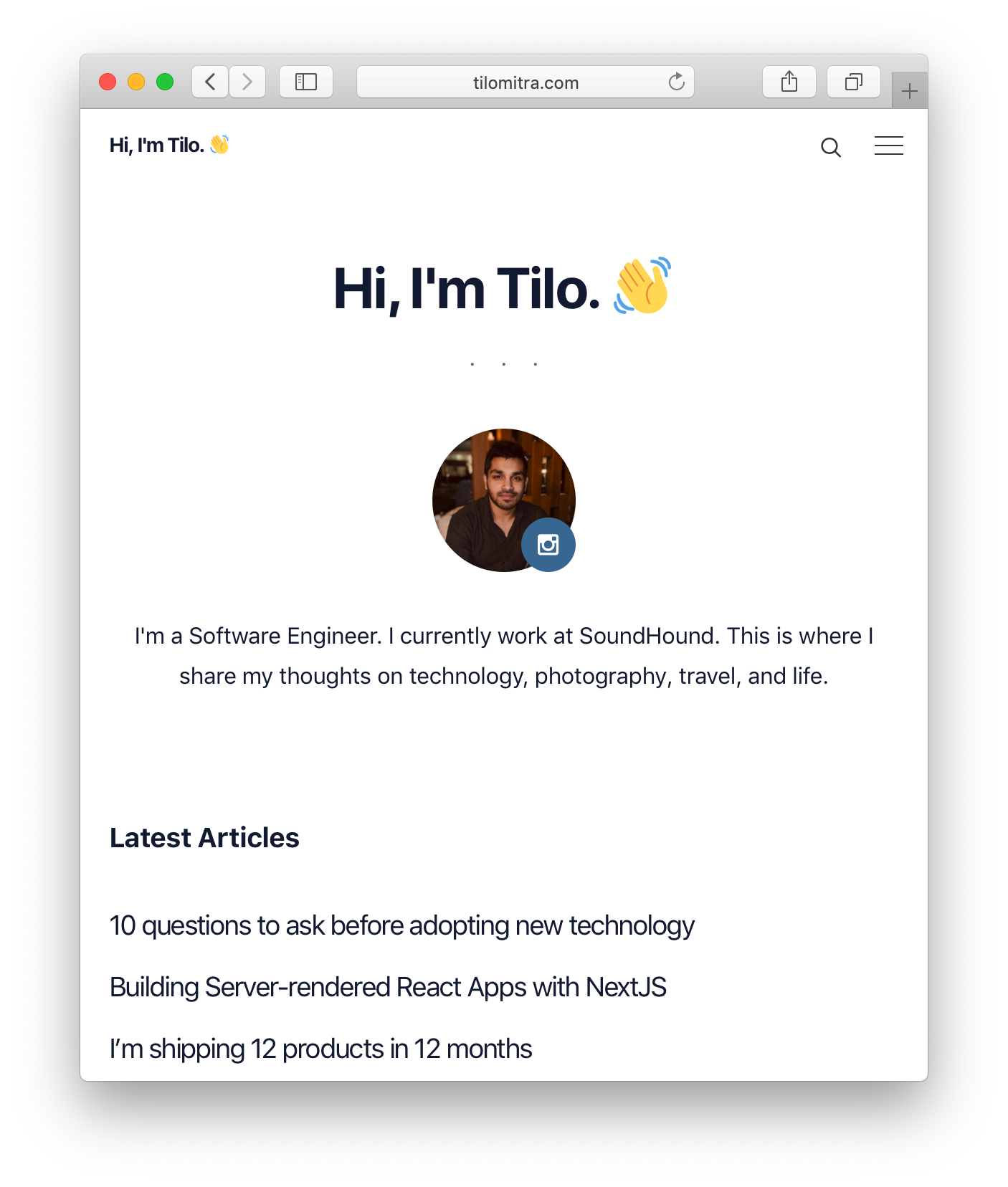 Building Server-rendered React Apps with NextJS – Tilo Mitra